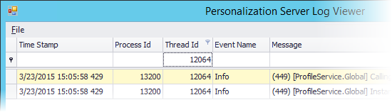 Personalization Server Log Viewer