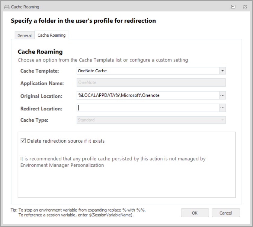 Cache Roaming for Virtual Sessions