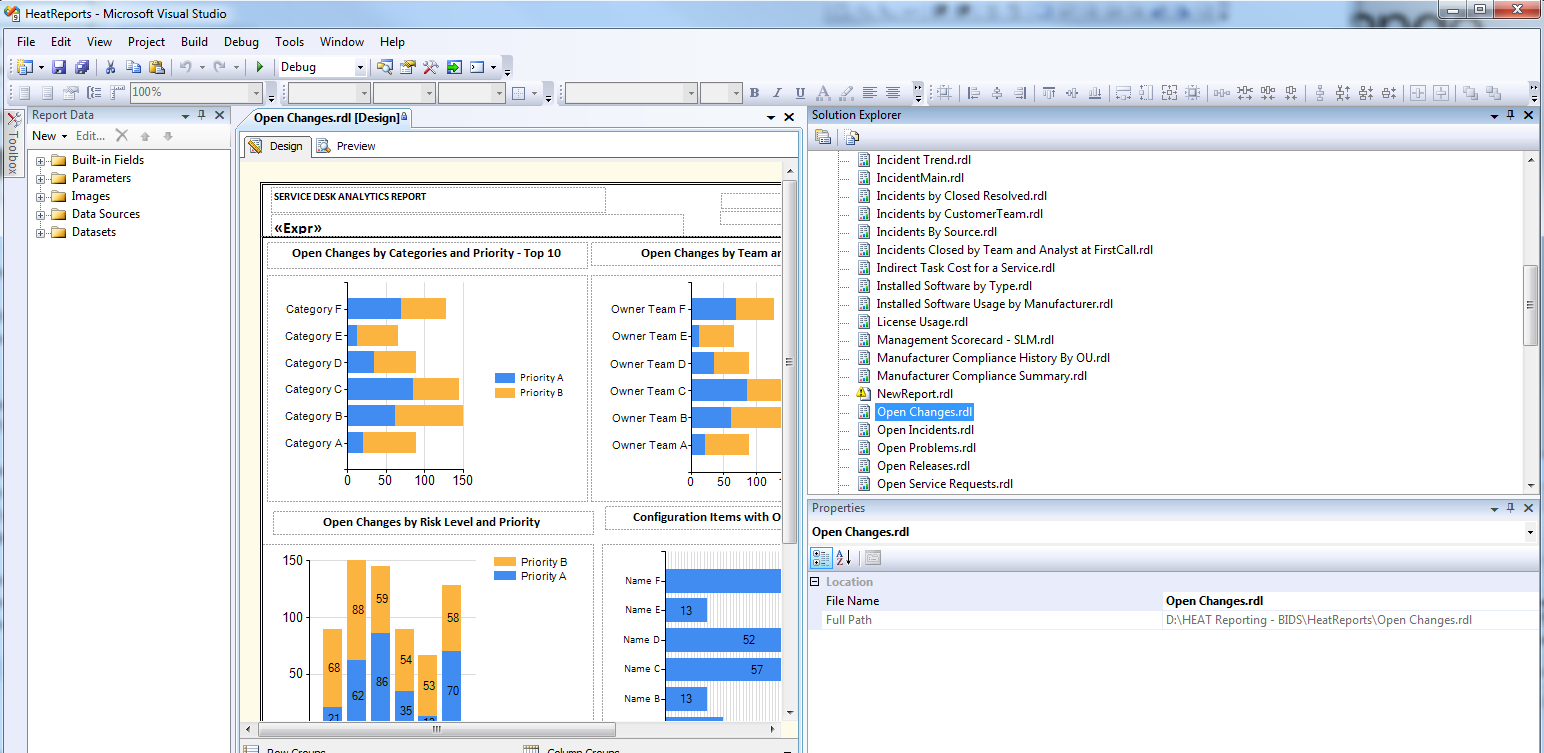 Creating a Report Using Microsoft Business Intelligence