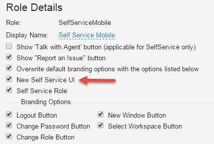 checking new self service ui