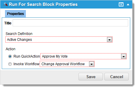 Run for Search Workflow Block