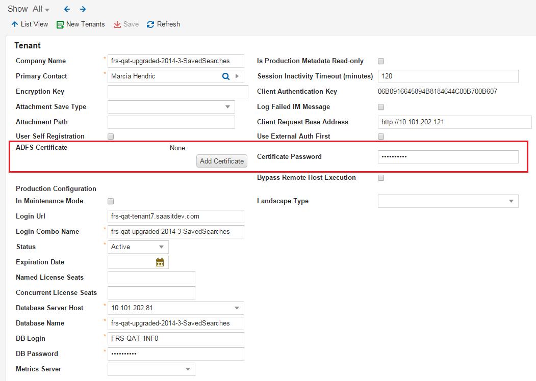 Working with ADFS/SAML