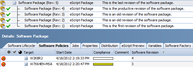 Software Package Revisions