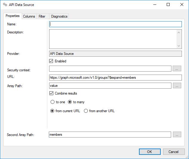 Configure API Data Sources