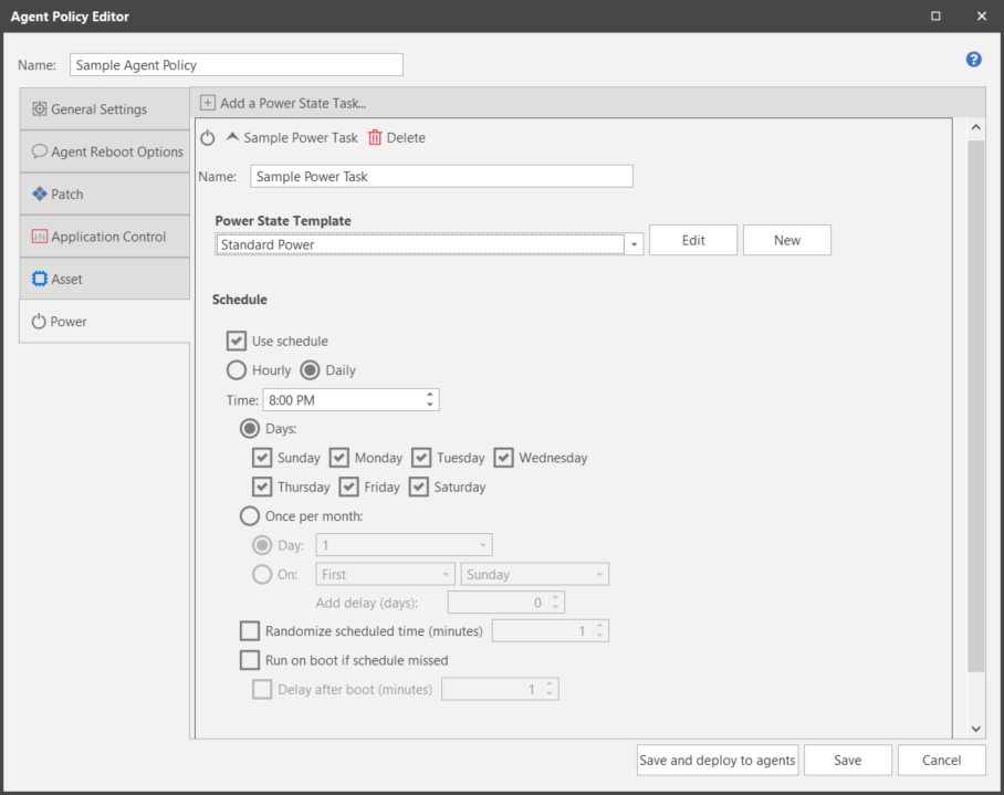 Creating and Configuring a Power Task