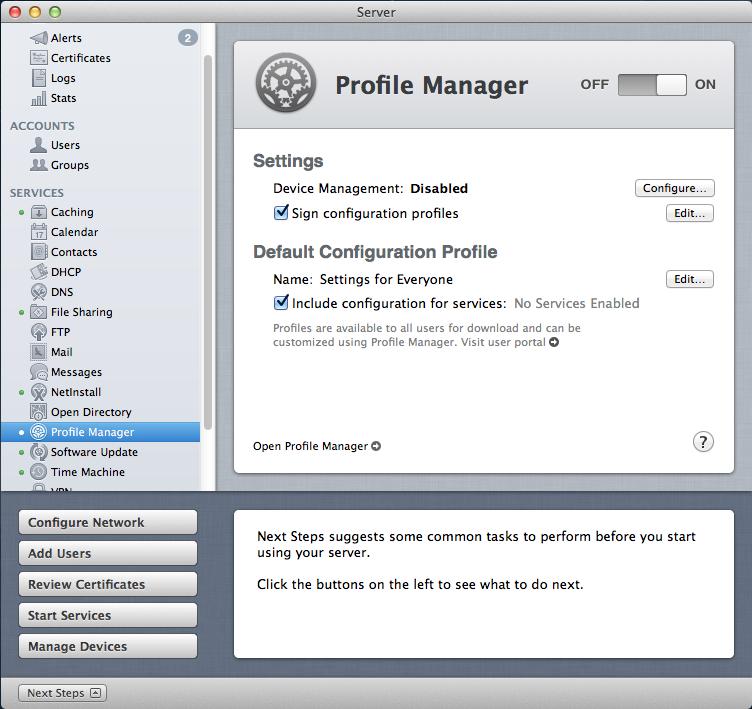 Importing Mac configuration profiles