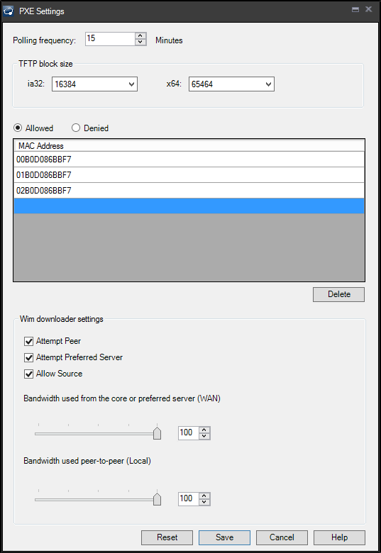 PXE-based deployment