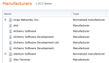 Creating a normalized manufacturer name